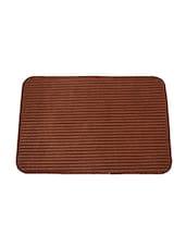 Elegance Brown Cotton    Door / Floor Mat - By
