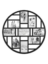 Black Plastic Photo Frame With 9 Slots - Innova