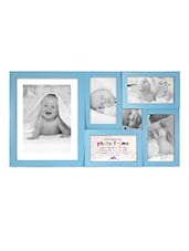 Blue Plastic Photo Frame With 6 Slots - Innova