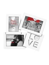 White MDF Photo Frame With 3 Slots - Innova By HC