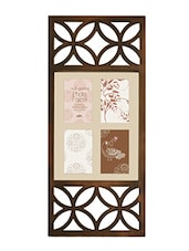 Brown Plastic Photo Frame With 4 Slots - Innova