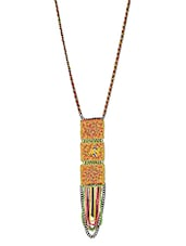 Multicolored Embellished Long Necklace - By