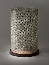 Carved Mirror Work Circular Shape Floor Lamp - By