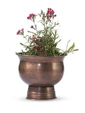 Brown Iron And  Copper Planter - Papallona Designs - 1172597