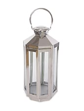 Stainless Steel & Glass Lantern - Buttercup Decor