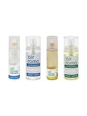 AirRoma Combo Of 4, Air Freshener Spray 200ml, Car Freshener 60ml, Jasmine Air Freshener Spray 200ml & Mogra Car Freshener 60ml - By
