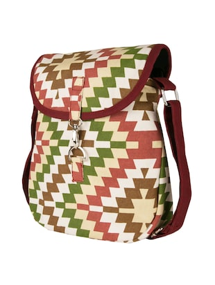 multi canvas sling bag - 11734885 - Standard Image - 5