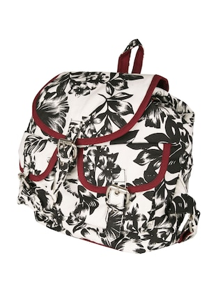 printed canvas backpack - 11734938 - Standard Image - 5