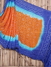 Colourful Bandhej Art Silk Saree - By