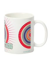 Multicolour Ceramic Coffee Time Mug - DESIGN GUNS