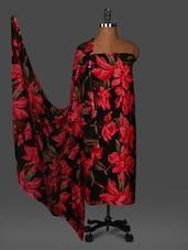 Multicolour Printed Crepe Unstitched Dress Material - PARISHA