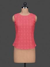 Round Neck Sleeveless Lace Top - Citrine