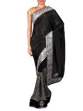 Black Embroidered Georgette Saree - Shonaya