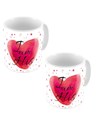 Little India Designer Romantic Printed Coffee Mugs Pair 635
