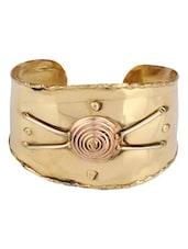 Gold Metallic Cuff Bracelet - Voylla