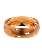 Gold Metallic Kada Bracelet - By