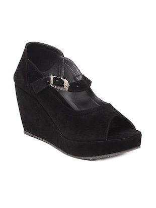 solid black platforms wedges -  online shopping for wedges
