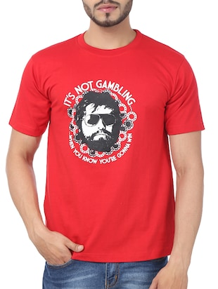 red cotton tshirt