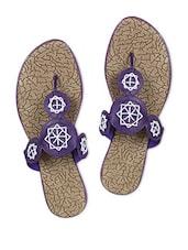 Purple Faux Leather Slip On - Tycoon