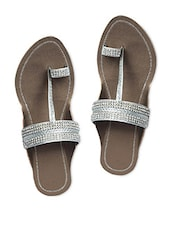 Silver Faux Leather Slip On - Tycoon