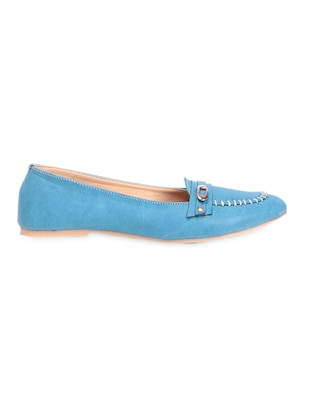 ddf73a628ff Buy Blue Leather Loafers for Women from Ten for ₹491 at 65% off ...