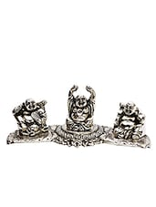 Silver Metallic Finish Laughing Buddha - By
