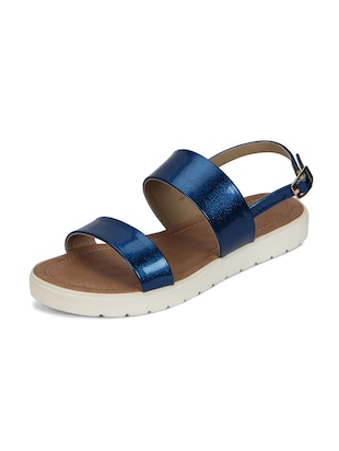 blue back strap faux leather sandal - 11816768 - Standard Image - 2