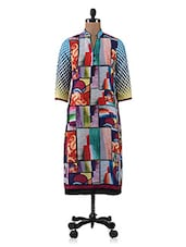 Multicolour Digital Printed Georgette Kurti - By - 1183413
