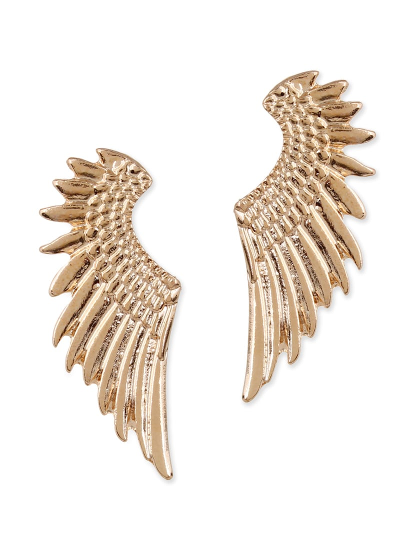 Gold Metal Drop Earring - By