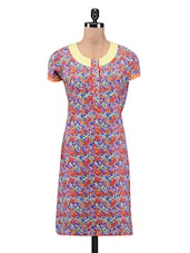 Multicolored Cotton Printed Kurti - By