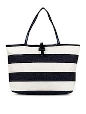 Striped Nauitcal Print HandBag - SATCHEL Bags