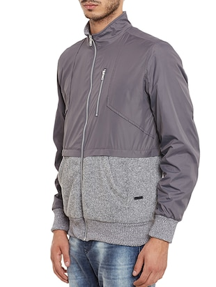 grey nylon quilted jacket - 11854096 - Standard Image - 2