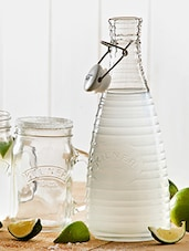 Transparent Glass Water Bottle With Ceramic Lid - By