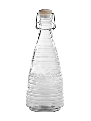 Transparent glass water bottle with ceramic lid - 1186545 - Standard Image - 2