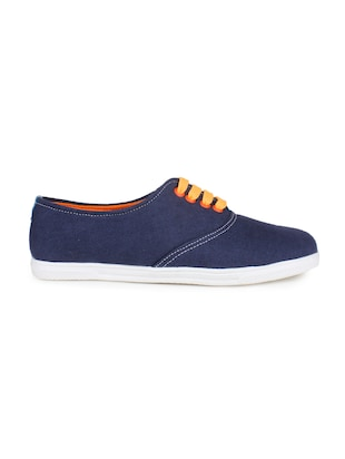 blue suede laceup sneakers
