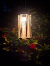 Untold Homes Cylindrical Jute Pendant Lamp - By