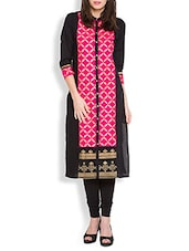 Multi Cotton Straight Kurta - By