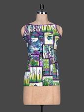 Multicolour Printed Cotton Sleeveless Top - SHREE