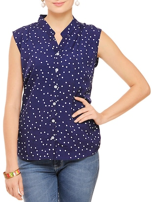 multi colored polyester regular top - 11910589 - Standard Image - 2