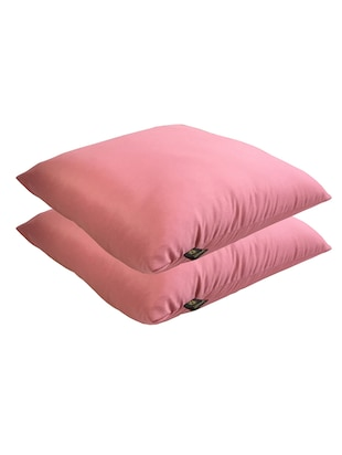 Lushomes Bright and Fluffy Pink Cushion Set Of 2