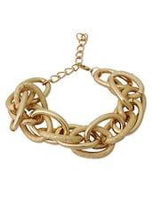 Gold Metallic Chain Bracelet - By
