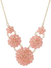 Pink Gold Plated Heavy Statement Necklace - By