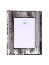 Black And Silver Wooden Photo Frame - By