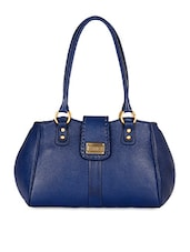 Blue Leather Small Handbag - Zifana