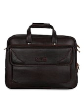 Brown Leather Laptop Bag - By - 1193799