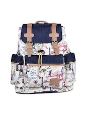 multi colored canvas printed backpack -  online shopping for backpacks