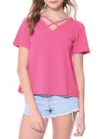 solid pink top -  online shopping for Tops