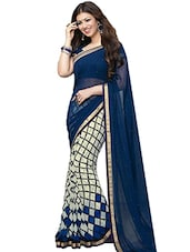 blue chiffon saree -  online shopping for Sarees