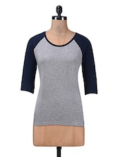 Grey Cotton Knit T-shirt - By