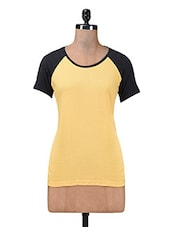 Yellow Cotton Knit T-shirt - By